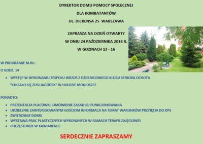 Zaproszenie naDzień Otwarty