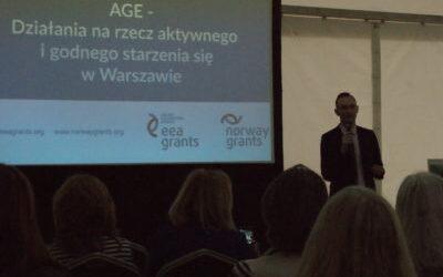 Konferencja AGE – Działania narzecz aktywnego igodnego starzenia się wWarszawie